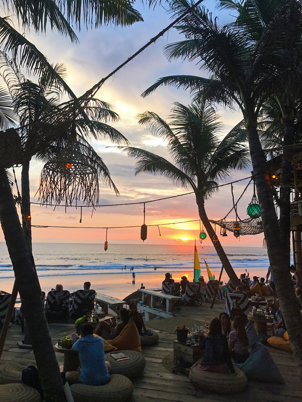 Sunset at La Brisa beach club, Canggu, Bali