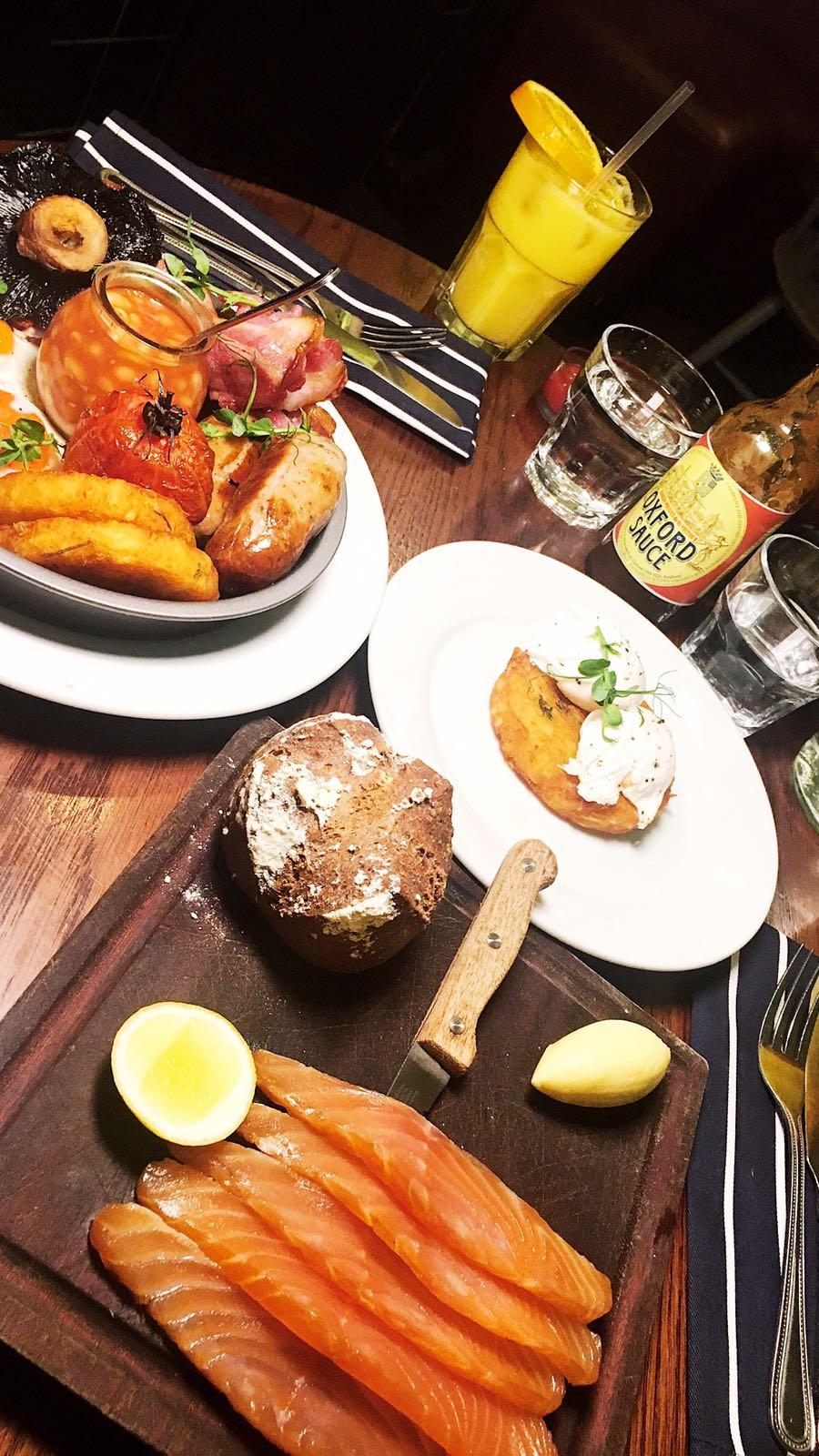 Smoked salmon, full English breakfast Parlour Kensal Rise
