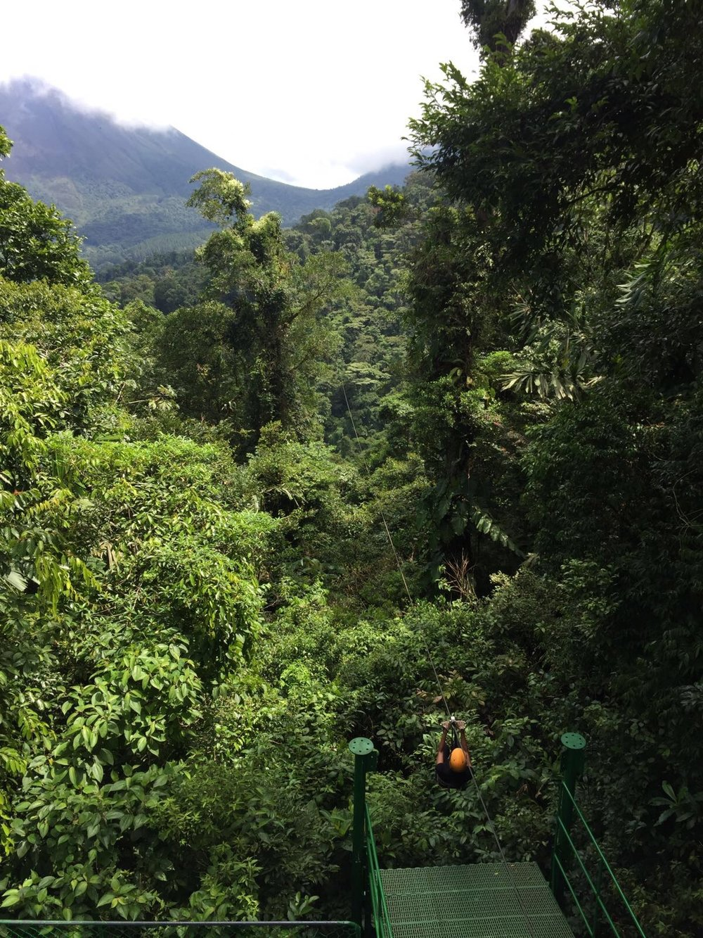 Zip lining through Costa Rican rainforest | Helena Alyssa