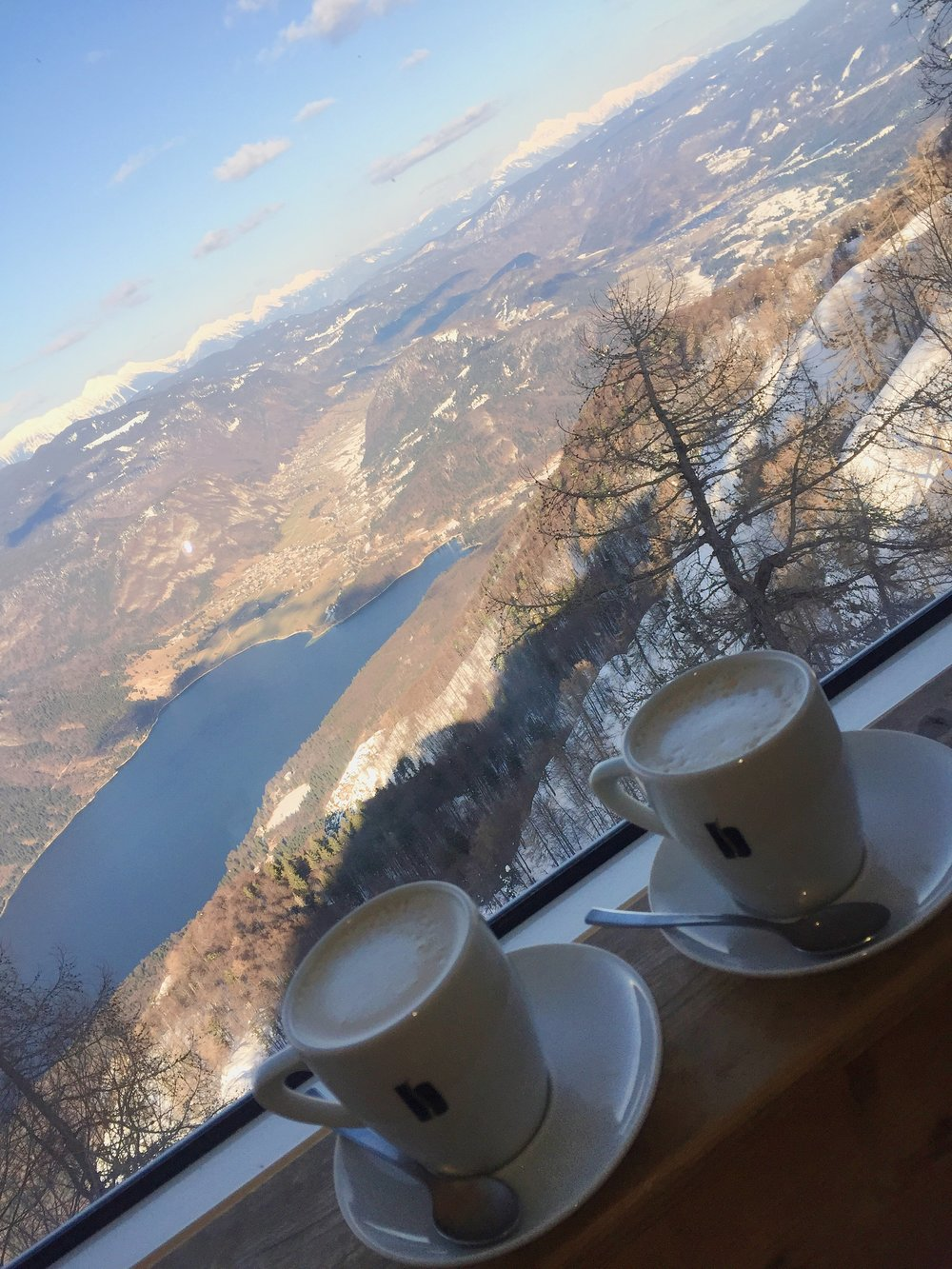 Coffee at Vogel Ski Resort, Slovenia | Helena Alyssa