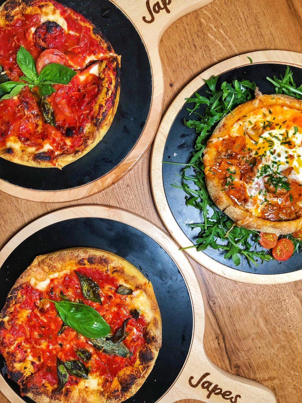 Japes, London Chicago deep dish piza; Helena Alyssa