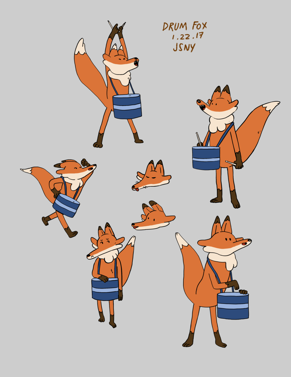 Drum Fox expressions