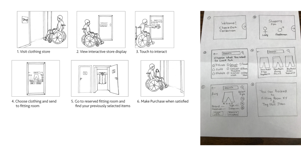 Storyboard & Sketches for Interactive Display
