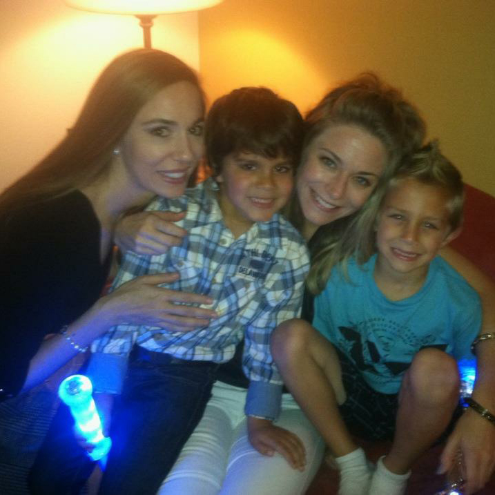 Michelle with her sister and her nephews