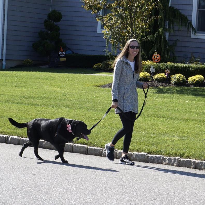 Walking Sophie in our neighborhood
