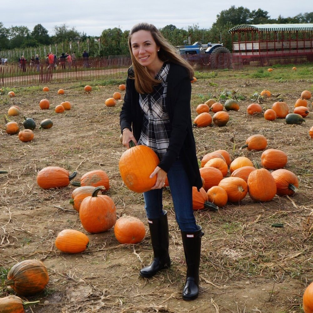 Michelle at the pumpkin patch