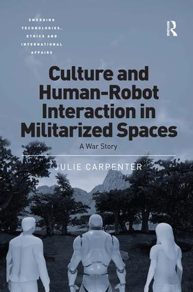 Dr. Carpenter's first book, Culture and human-robot interaction in militarized spaces: A war story (Routledge, Amazon) expands on her research with U.S. military Explosive Ordnance Disposal personnel and their everyday interactions with field robots. -