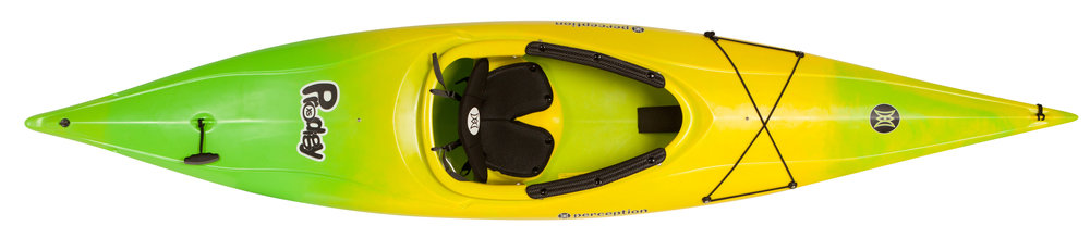 Prodigy XS:   The Perception Prodigy XS kayak is built for kids and sets the standard for confidence-building stability, comfort, and performance. The sit-in design protects from the elements and lowers the kayak's center of gravity to further enhance stability. The most comfortable kids kayak available, the Prodigy XS features a reengineered seat and cockpit to keep little ones secure for effortless paddling. Integrated floatation makes it one of the safest kayaks on the water. Lightweight and easy to carry.