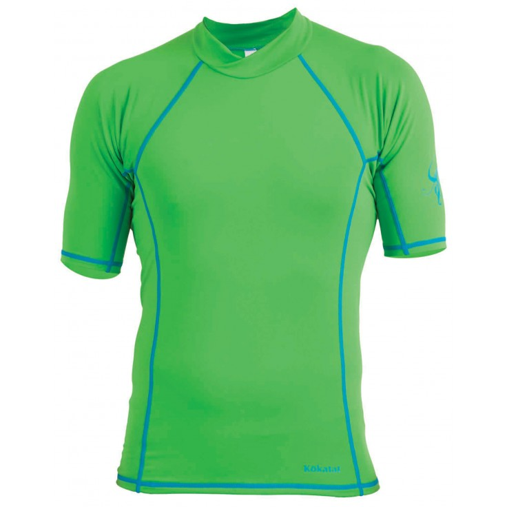Sunclore shortsleeve:   Kokatat's SunCore rashguard insulators are a lightweight, high-stretch construction of polyester and spandex that will absorb very little water and dry quickly. Paddling specific patterns for women and flat stitched seams prevent chafing. UPF 30+ sun protection.