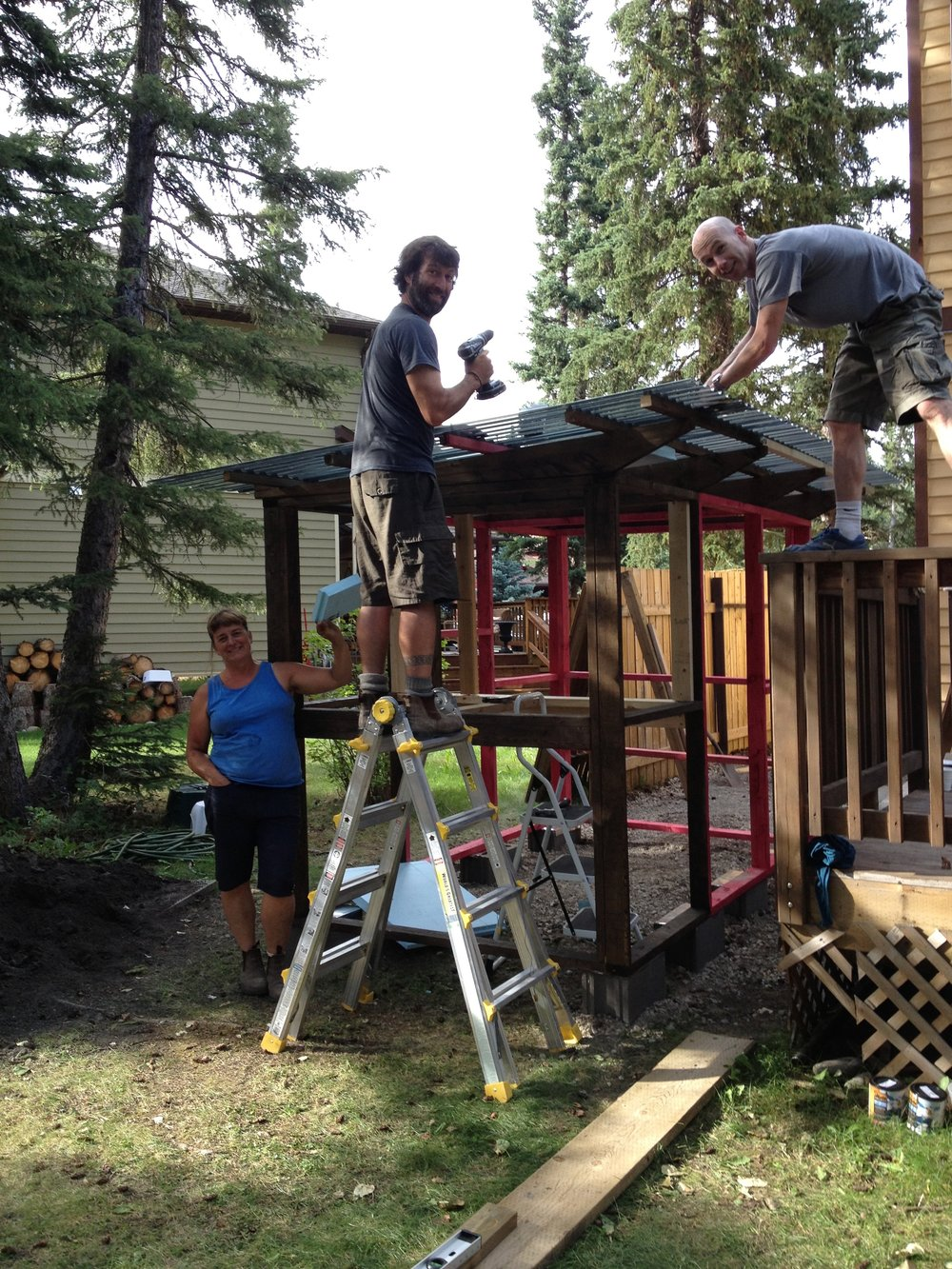 2013, Building the backyard chicken coop