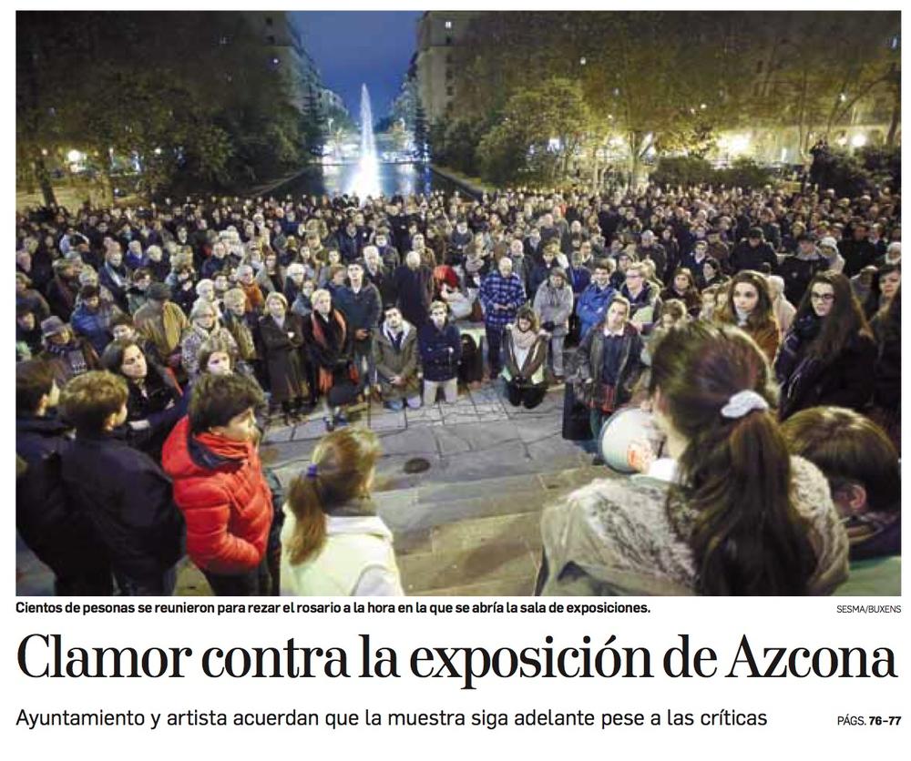 Portada del Diario de Noticias de Navarra. Miércoles, 25 de Noviembre de 2017.