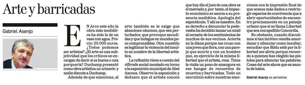 Jueves, 26 de Noviembre de 2017. Diario de Navarra.