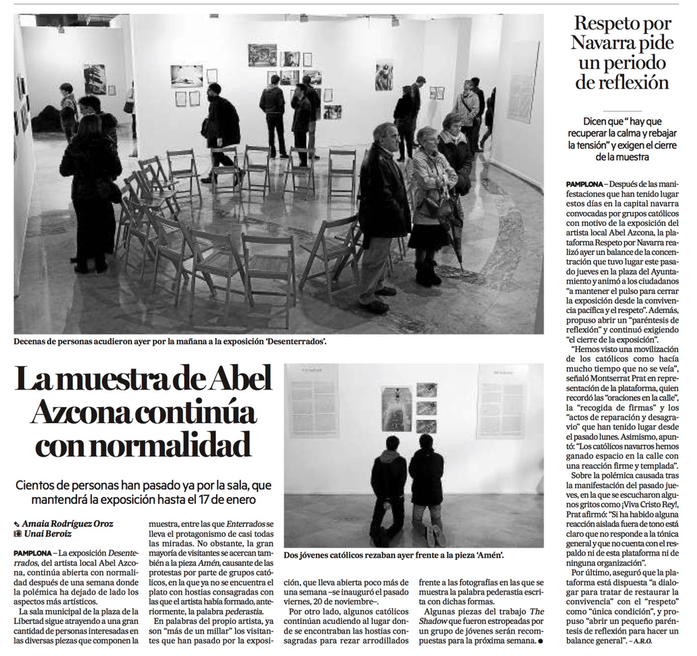 Domingo, 29 de Noviembre de 2015. Diario de Noticias de Navarra.