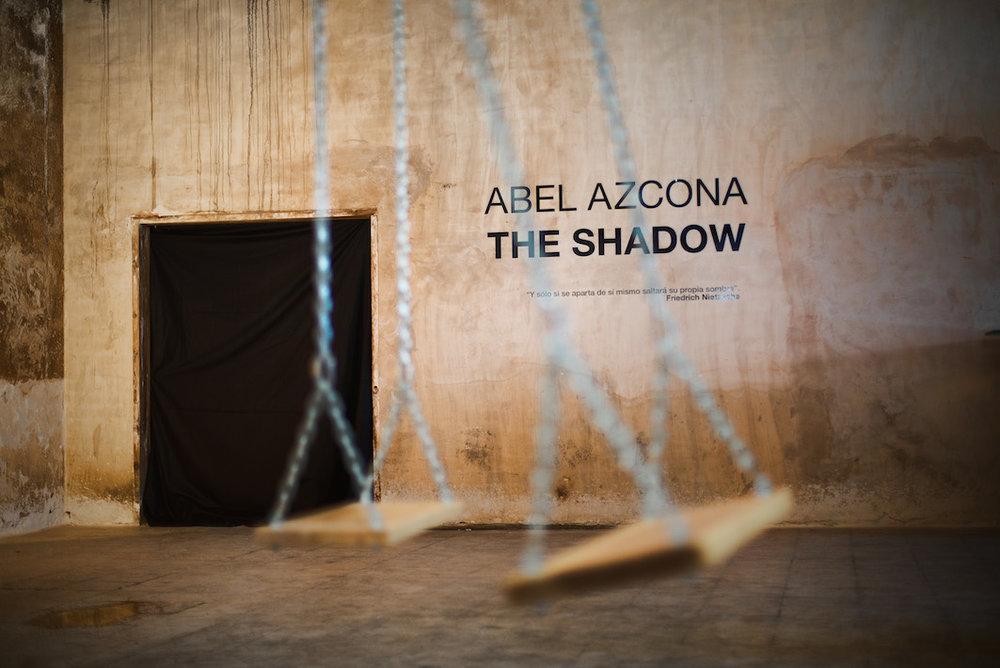 Exposición  Abel Azcona  I  The Shadow en C. Cultural  El Hueco  de Soria. Inauguración 21 de Mayo de 2015.