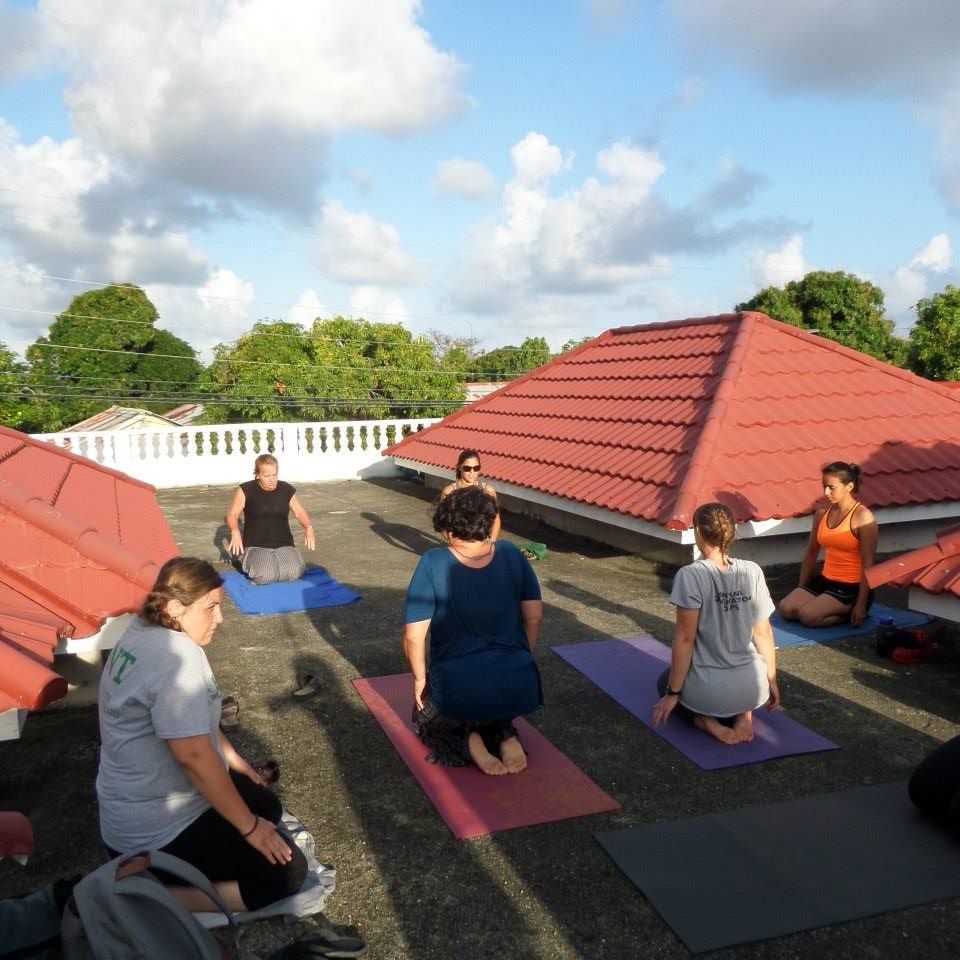 Rooftop yoga has become almost a daily activity for some of us!