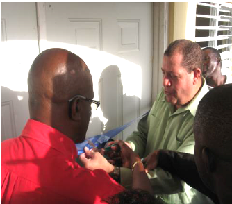 Ribbon Cutting in August 2012 with Mr. Wint and MP Audley Shaw