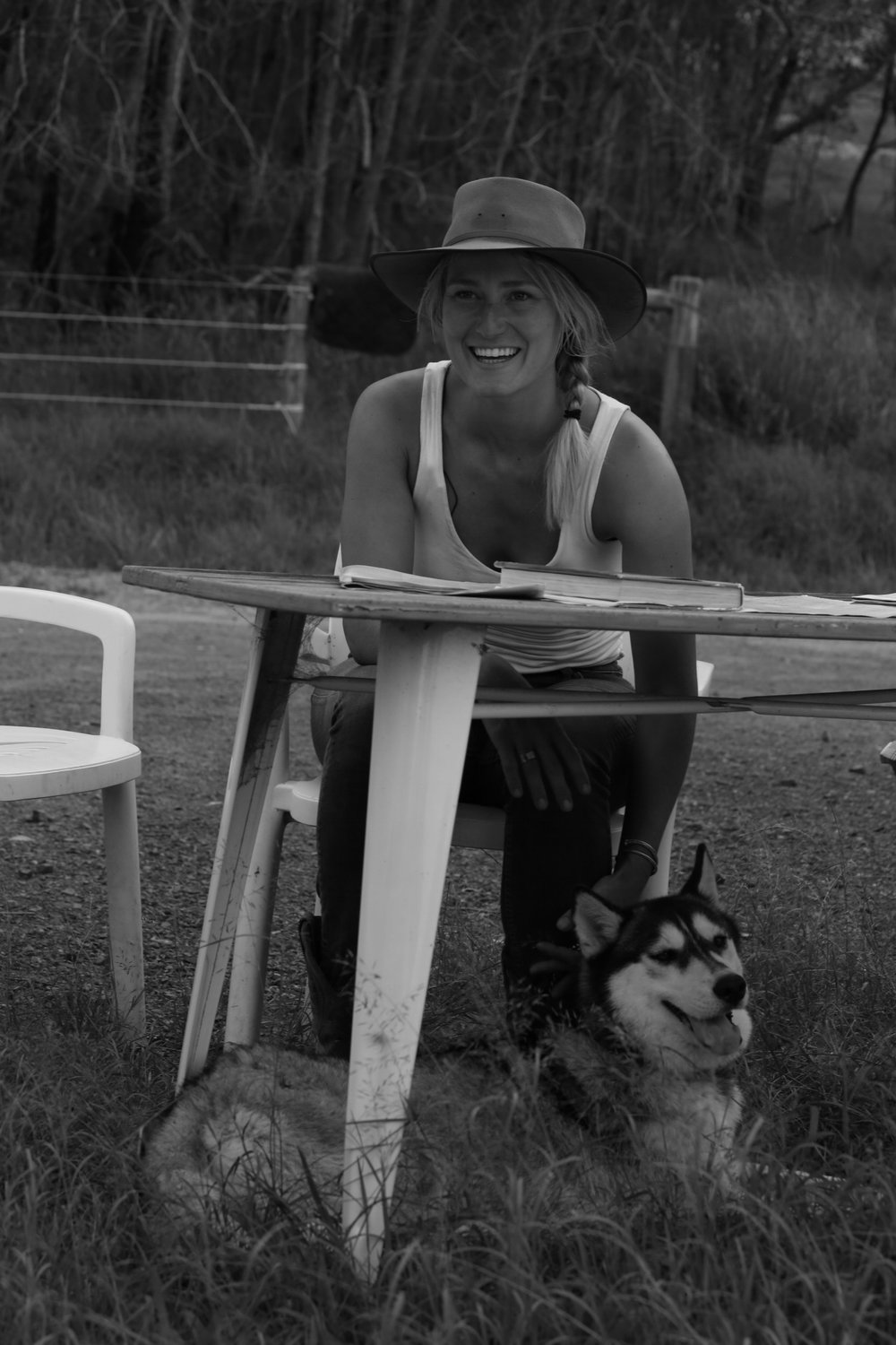 Clemmie Wotherspoon - Clemmie has been working with horses for four years in preparation for her trek. Her inspiration stems from a childhood dream instilled by Robyn Davidson's journey in 1980 across the Outback on camels-From Alice to Ocean. Clemmie has a degree in Psychology and enjoys volunteering with programs such as One Wave Surfing Therapy, Smart Pups Assistance Dogs, and Wollongara Outdoor School. Clemmie has completed over 10,000km of unsupported bicycle trips in the United States. She will be documenting her horse adventures in visual diaries and video.