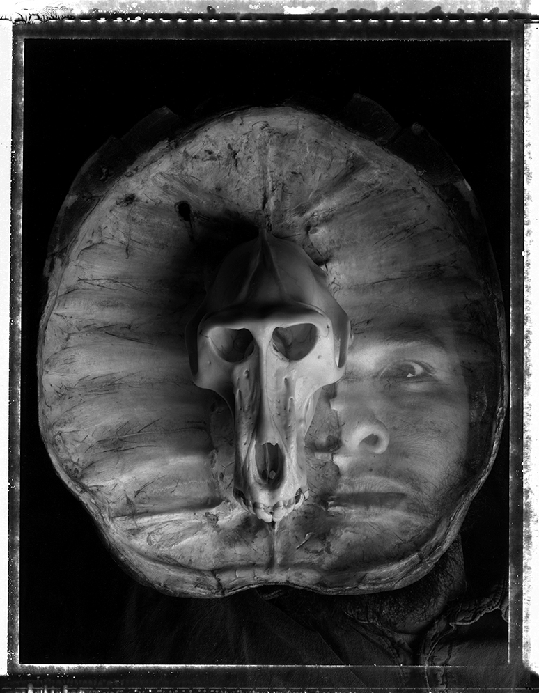 Self-portrait with Baboon Skull, 1994