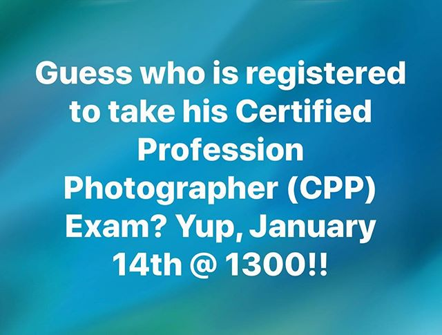 I'm nervous but excited about this! Passing the exam would put me one step closer to a goal I want to achieve! #roadtocertified #cpp #ppa #imagingUSA2018 #CertifiedProfessionalPhotographer #wilkinsonportraits
