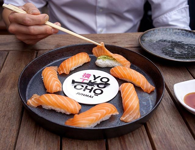 A Melbourne first: sushi roulette! Spin the wheel and avoid the two wasabi-lathered nigiri. Available now as a $10 starter at #yokochomelbourne - tag someone who's game.
