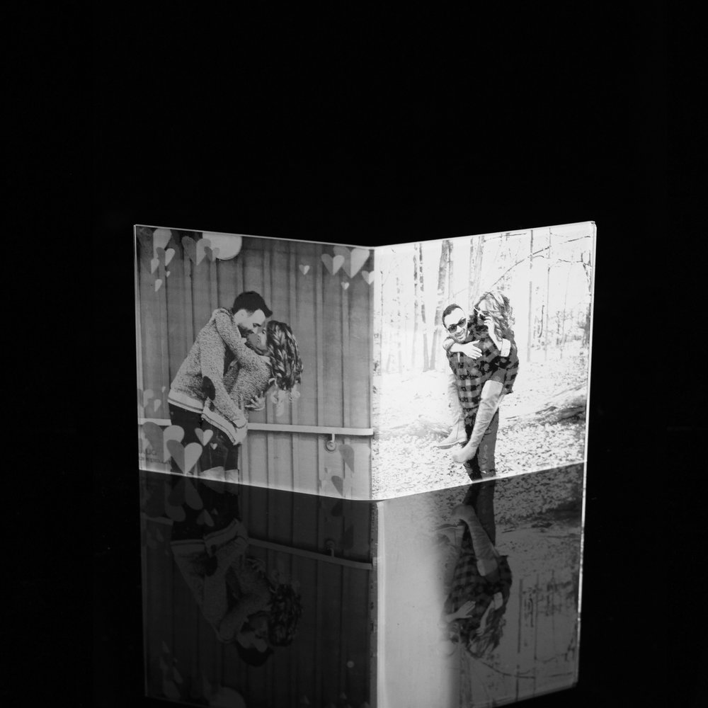 Custom Couple Photo Centrepiece
