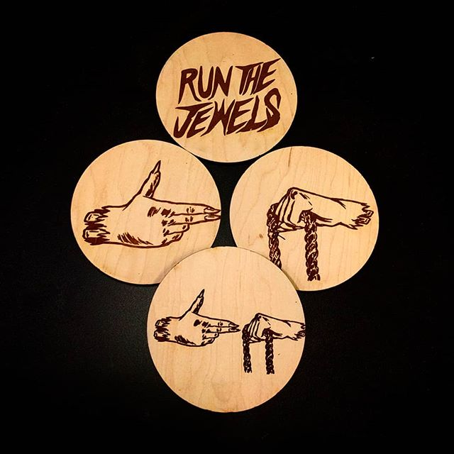Wood coasters for @runthejewels  Welcome to the #6