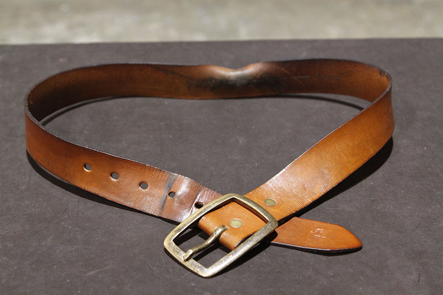 English Bridle Natural color after 2 years.
