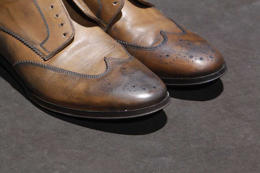 Left shoe restored...