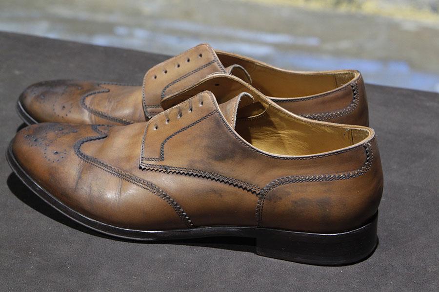 left shoe.