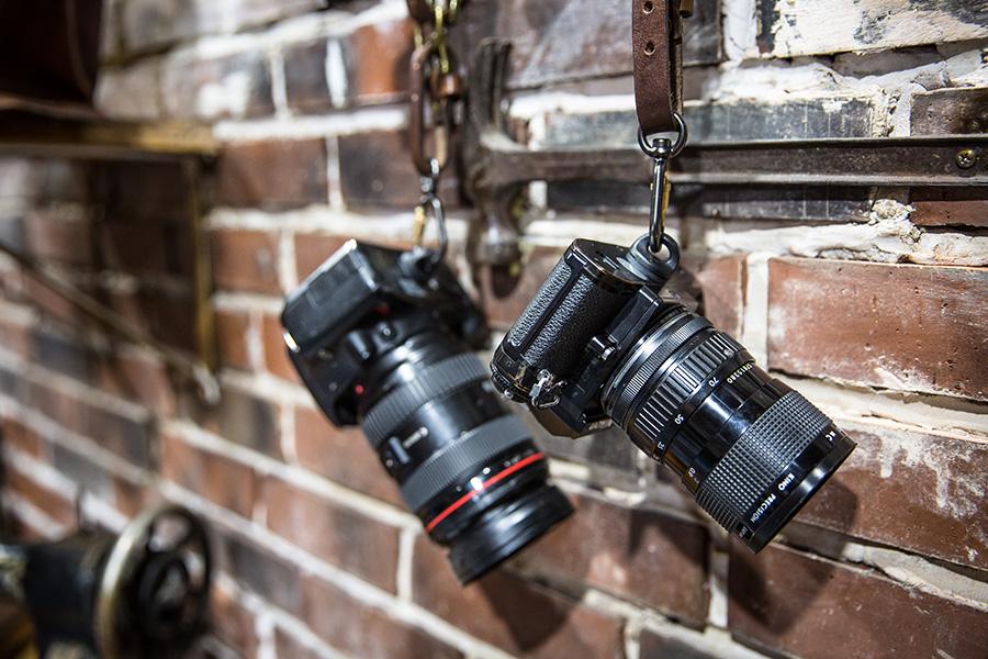 His Cameras...