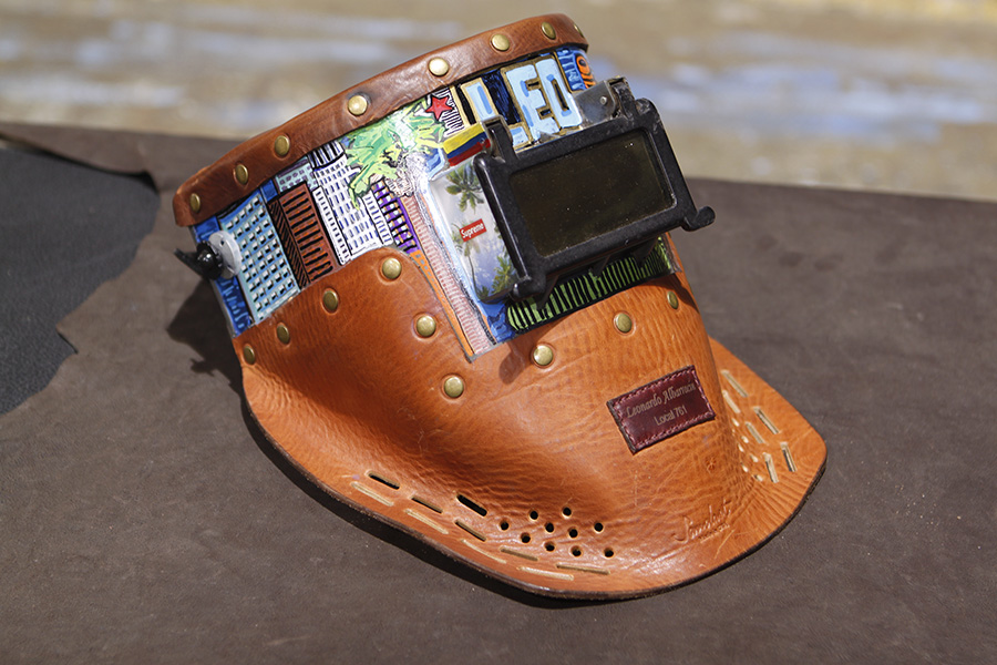 Welding Helmet - Leo is a welder & he knew early that he would become one. When he finally got accepted to be a member of his long-family of