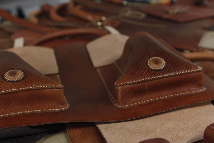 David's Francis Briefcase in English Tan.