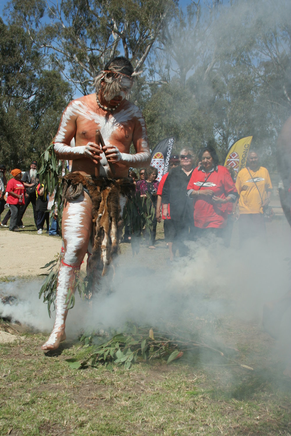 Lowell Hunter, Aunty Rose Garner , Aunty Sheila Baksh, Aunty Shirley Foster take part in smoking ceremony.JPG