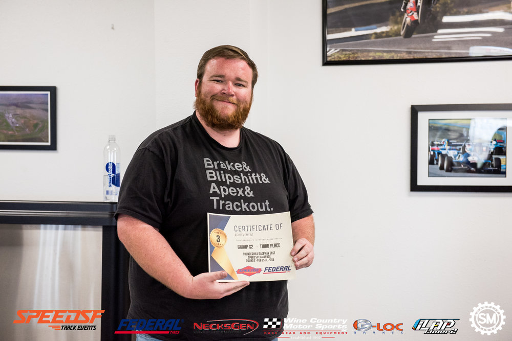 The shirt clearly explains why he was able to secure a podium finish!