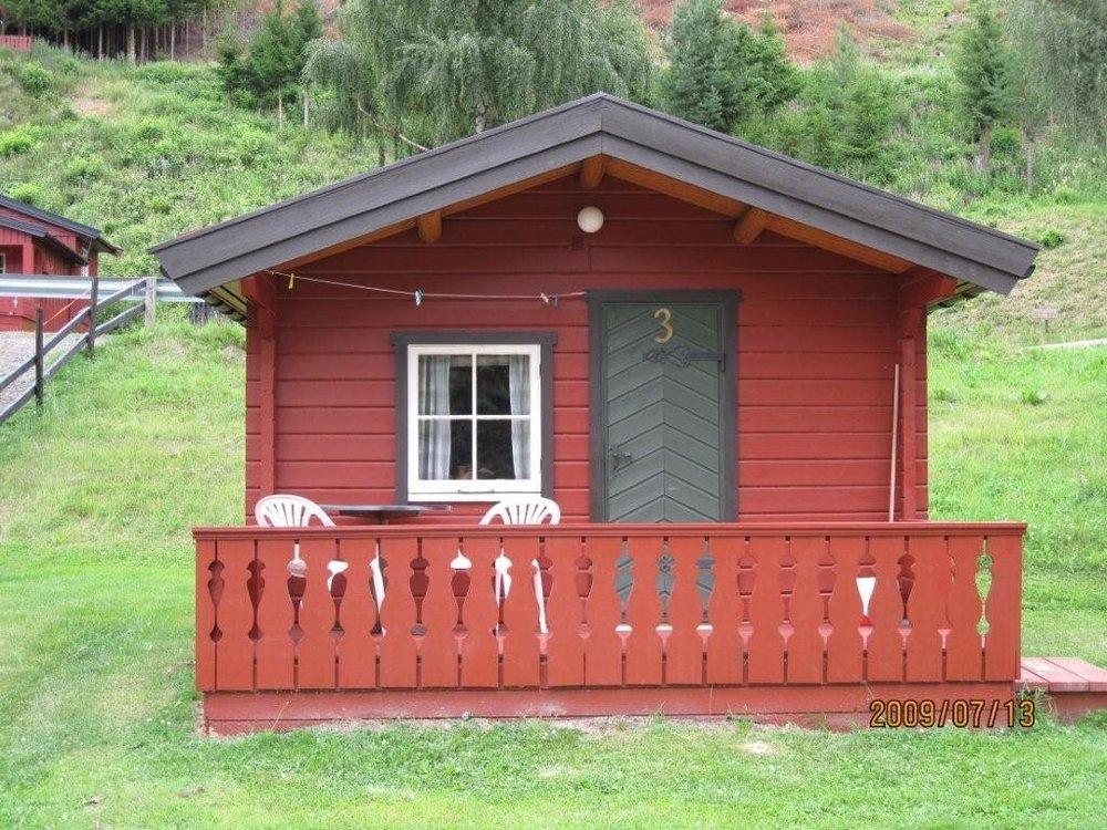 Hytte nummer tre har ett rom og koster kr 500 per døgn.