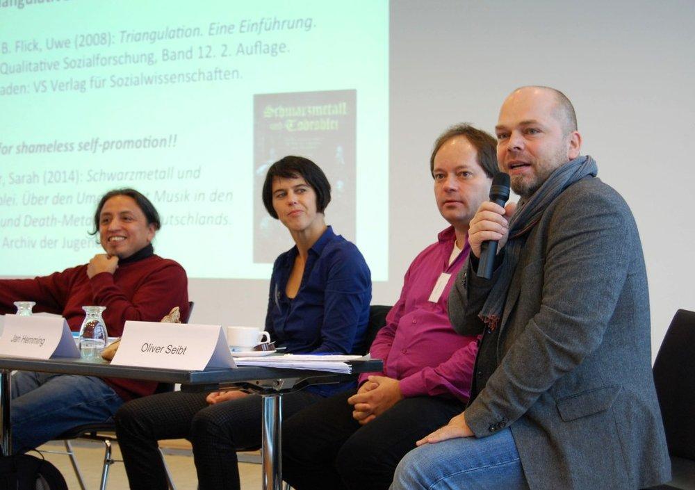Panel with Julio Mendívil, Ilka Siedenburg, Jan Hemming and Oliver Seibt