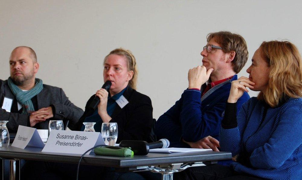 Closing panel with Oliver Seibt, Stefanie Alisch, Florian Heesch and Susanne Binas-Preisendörfer