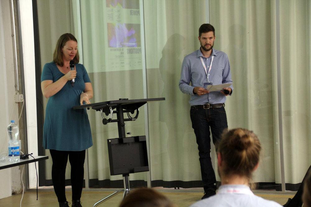 Organisers Anja Brunner & Hannes Liechti remark on schedule