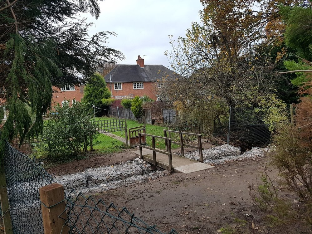 Bournville - New Footbridge and Gabion rebuild