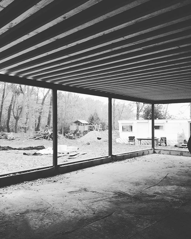 Project HOEF - progress #architecture #architecturelovers #architectuur #belgianarchitecture #archicad #work #wonen #progress #architect #renovation #renovationproject #renovatie #interior #interieur #livingroom #nature #inthewoods #wood #beams