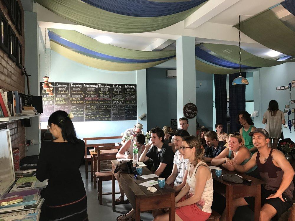 Free weekly Burmese language classes