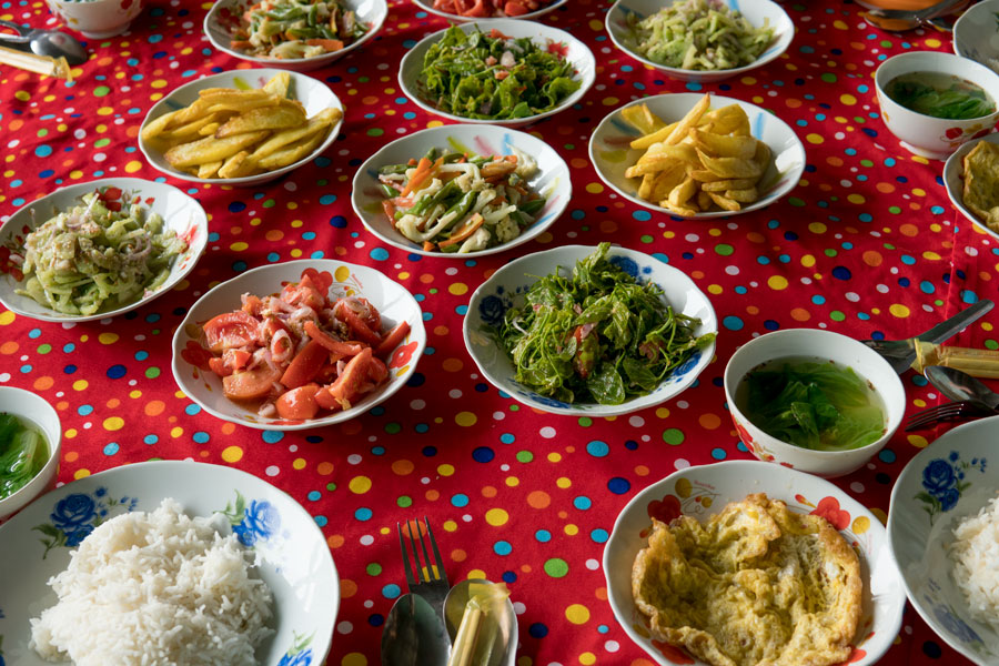 An Assortment of Inle Lake Local Foods