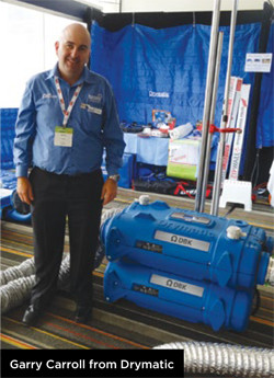 Garry Carroll from Drymatic showcasing the Drymatic II at AUSCLEAN.