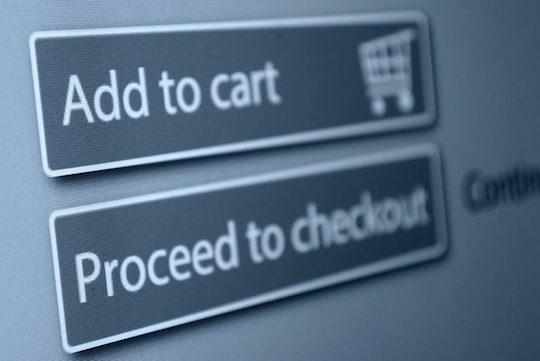 Online checkout screenshot