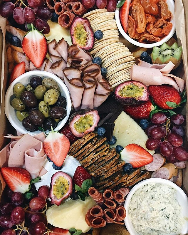 Large platter box delivered for a little Friday night event🧀🤗