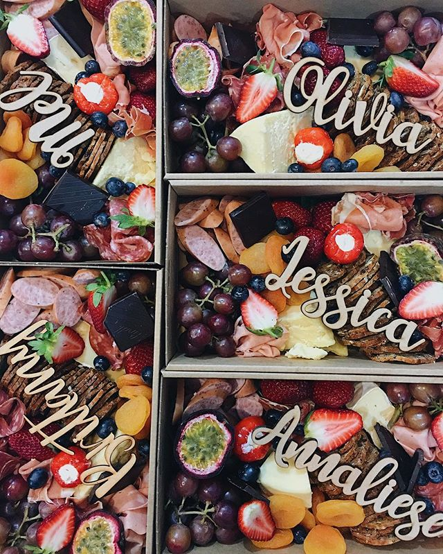 Personalised Platter Boxes✔✔ The first ones going out to these lovely ladies - @melwatts @the.quinn.girls @bybrittanynoonan @houseofwhite_ @annaliesegann @jessicasmith27 Thanks for working with us @frankie_and_co_ 💕💕💕