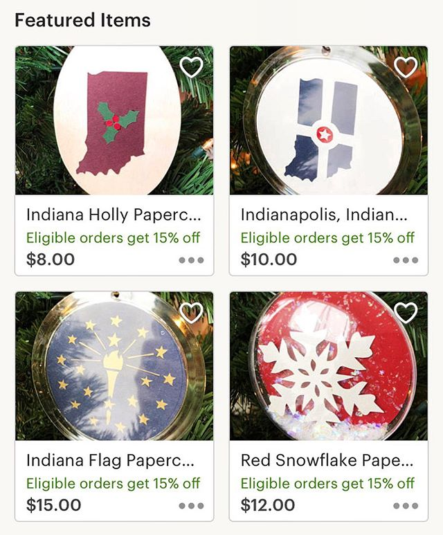 Lots of ornaments still in the shop ready to grace your tree 🎄 Save 15% when you spend $25 or more through 12/1 too! • • • #papercut #paperart #papercutartist #paper #papersource #paperillustration #artwork #paperartwork #paperartist #cutpaperart #keepindyindie #indiana #indianapolis #indy #indygram #igersindy #indygrammers #loveindy #circlecity #downtownindy #crafternoon #geezlouisedesign #etsy #etsyart #etsyfinds #etsyartist #etsystore #etsyshop #cybermonday #christmasornaments