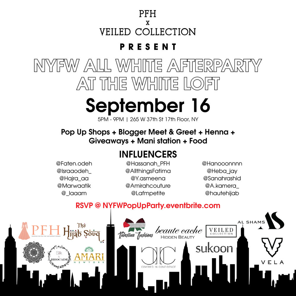 - Excited to share that we are having our first pop-up showcase in NYC! Join us for a New York Fashion Week Afterparty for an exclusive chance to purchase our collection in person. Make sure to RSVP, the event is free but tickets are limited!