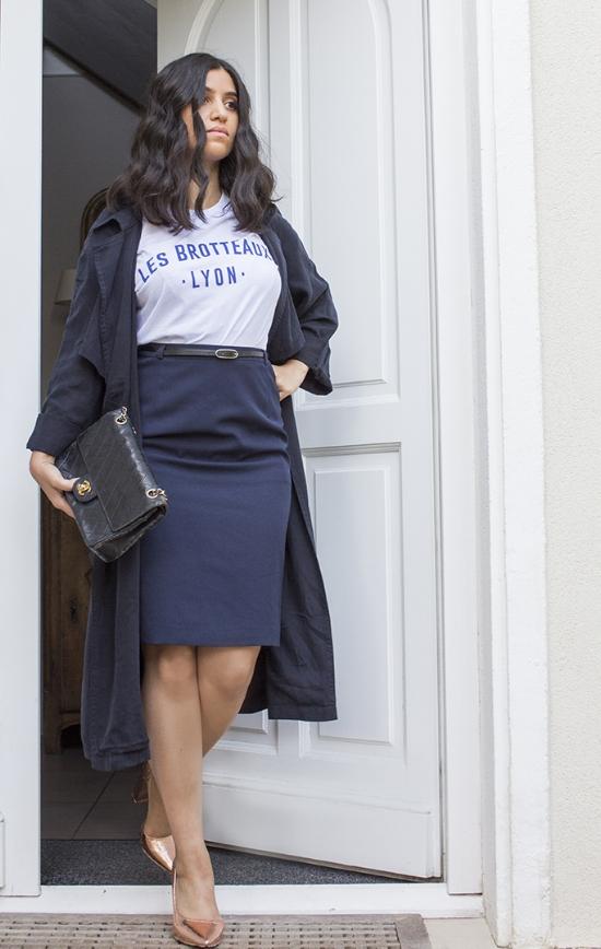 Bourgeoise Brotteaux - Bourgeoise, Chic, Épurée, pleins de jolies belles choses pour ce look porté ici par AméniDaily. T-shirt Les Brotteaux - Racine Saison 1