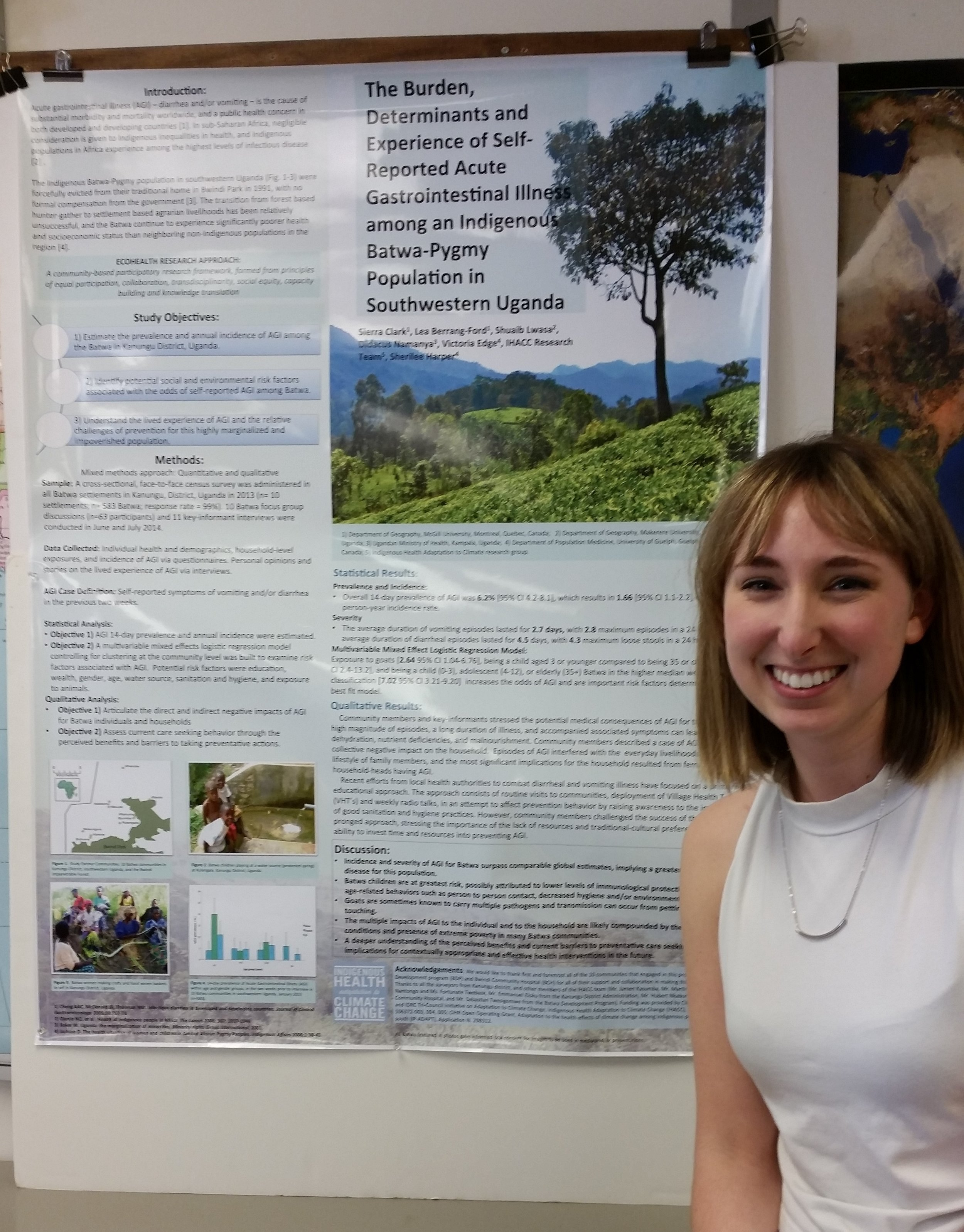 Sierra at the Geography Honours poster session 2015